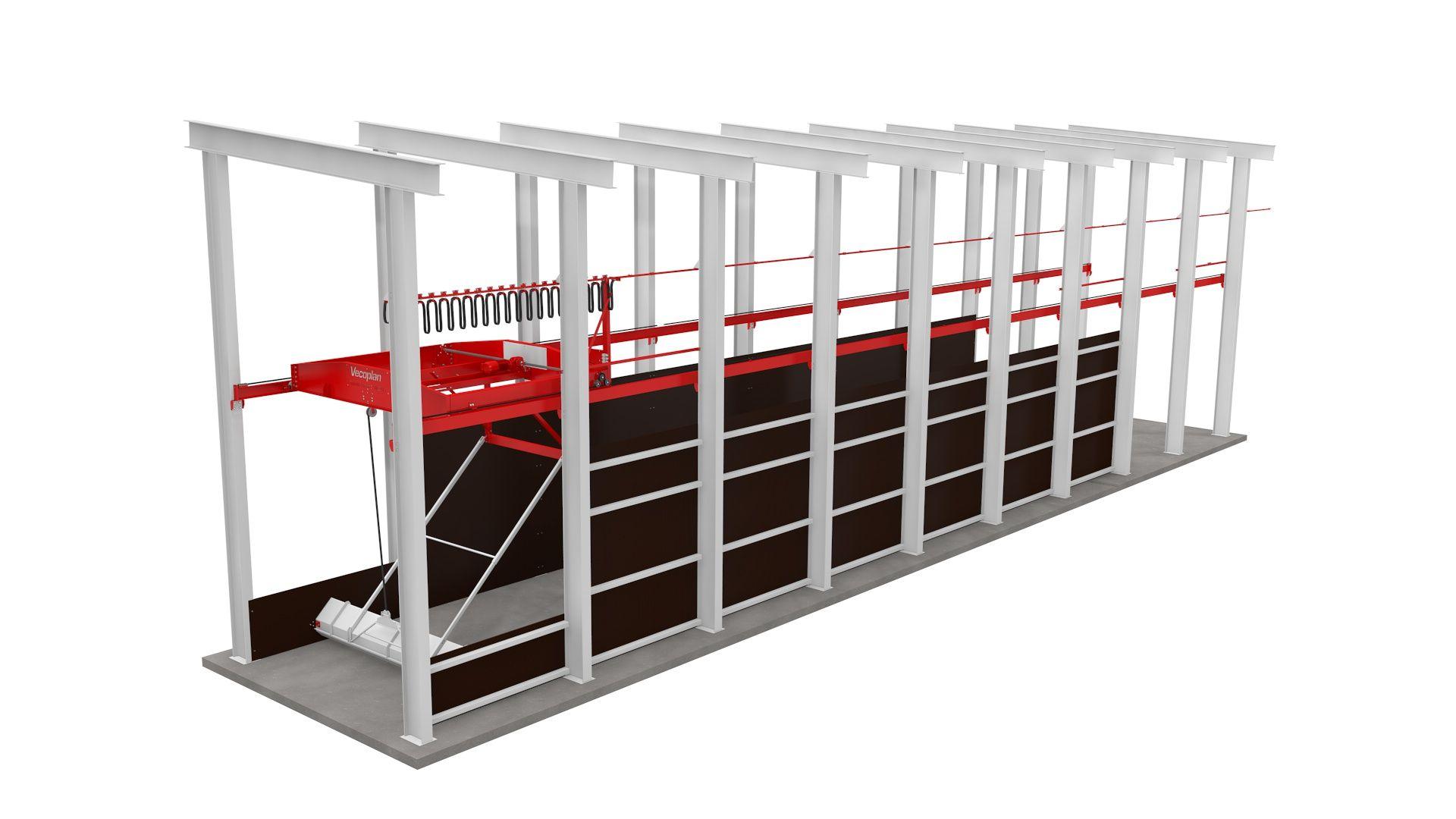 Принцип работы автоматизированного склада Toploader (3D модель)