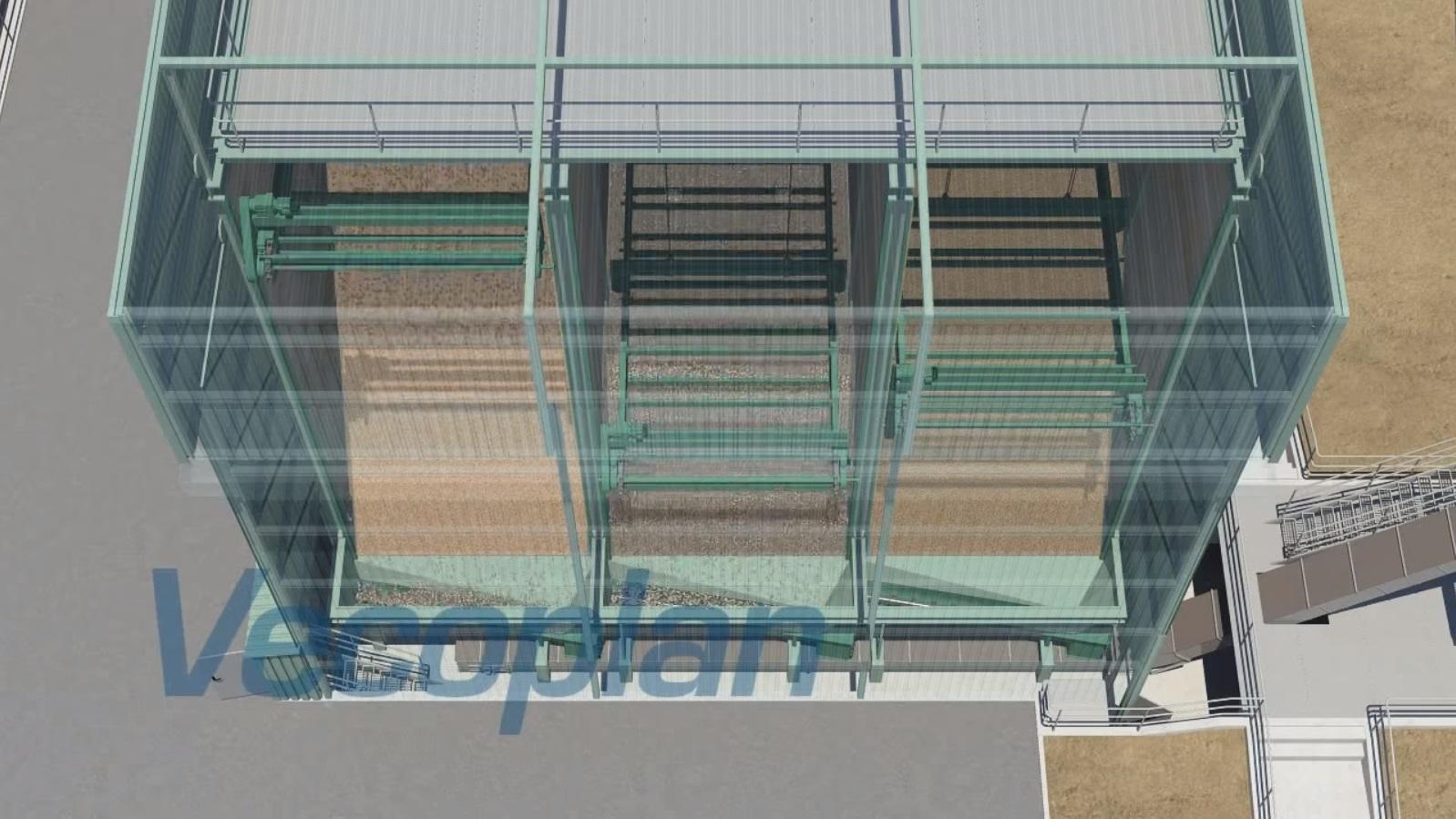3D модель работы автоматизированного склада BEF
