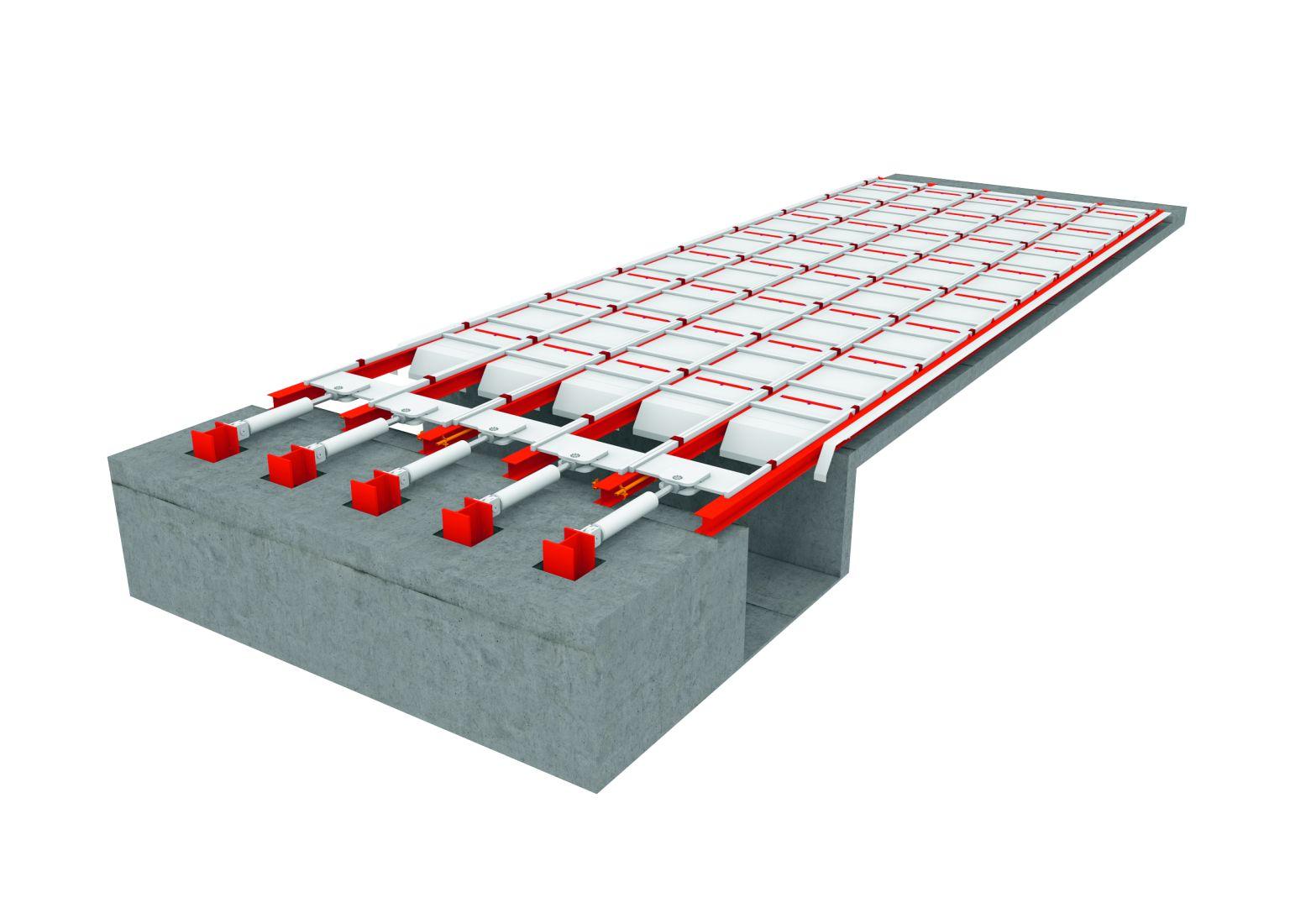 Стокерный пол для топливо заменителей средней и крупной фракции. 3D модель работы
