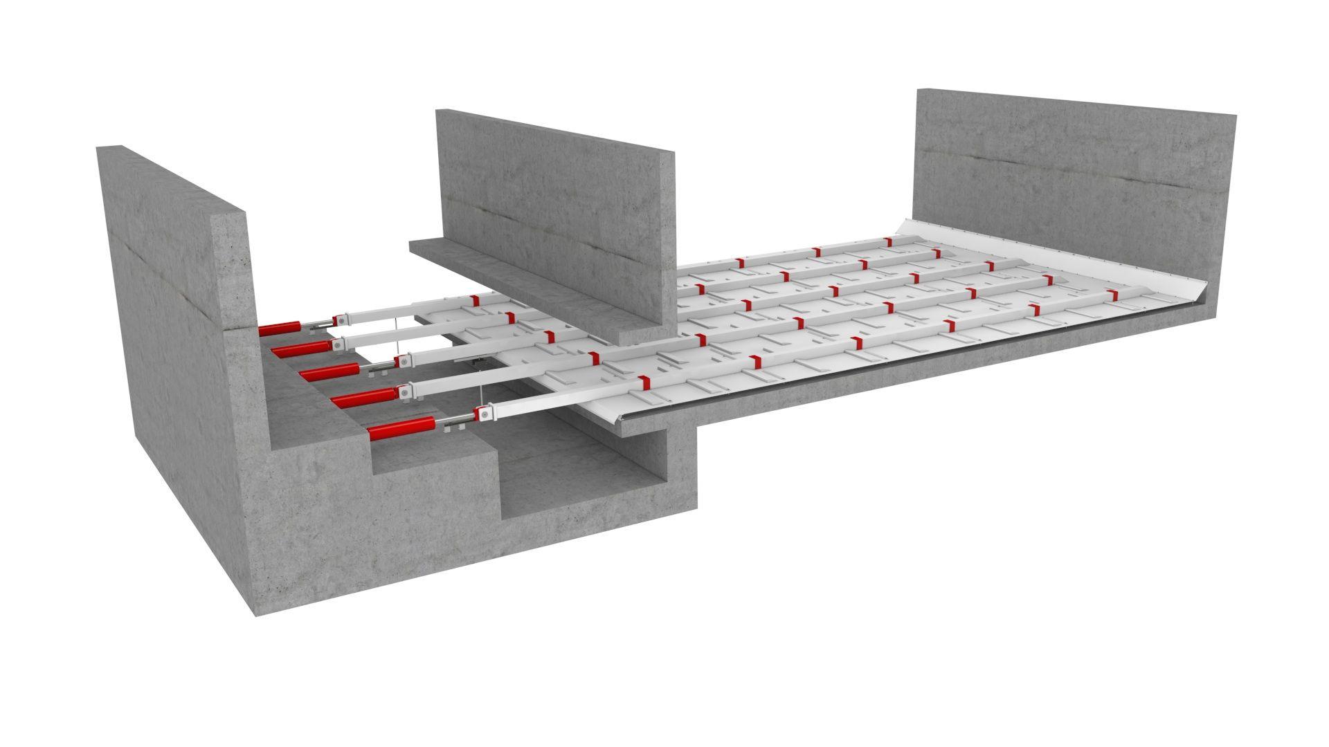 Стокерный пол для мелкофракционных материалов. 3D модель работы с транспортерами